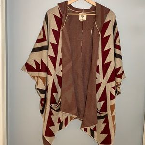 Billabong Hooded Aztec Poncho S/P